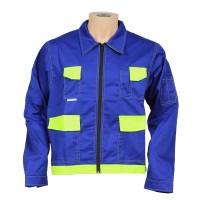 Jacheta de protectie Kora, bumbac + poliester, albastru + galben, marimea 48