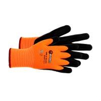 Manusi pentru protectie Double Nitrile, de iarna, acril + poliester, marimea 9, orange + negru