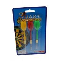 Set 3 sageti pentru Darts, plastic + metal, 9 x 17 x 2 cm