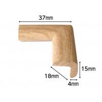Coltar protector din spuma de cauciuc AC-135, foarte subtire, lemn deschis, grosime 4 mm