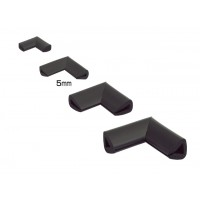 Coltar protector muchii din spuma de cauciuc AC-154, negru, grosime 5 mm