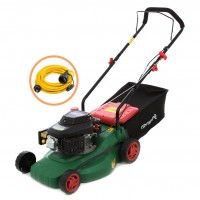 Pachet masina tuns iarba, pe benzina Grunman PT410, 2.5 CP, 1.8 kW + prelungitor cu fisa si cupla, contact de protectie, 5 m, N07V3V3 3 x 1.5 mmp