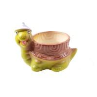 Ghiveci ceramic Broasca 2, H 16 cm