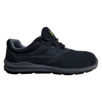 Pantofi de protectie DCT Silver, cu bombeu metalic, piele caprioara, gri inchis, S1 SRC, marimea 44