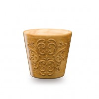 Masca ghiveci Retro, rotunda, ceramica, maro, D 16 cm