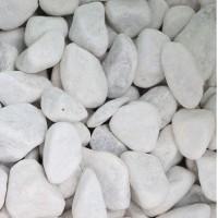 Marmura decorativa naturala anticata rotunjita, interior / exterior, alba, 25-40 mm, 20 kg