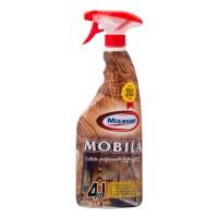 Solutie curatare mobila si parchet din lemn cu pulverizator Misavan 4 in 1, 750 ml