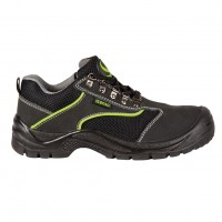 Pantofi de protectie Emerton, cu bombeu metalic, piele, negru, S1, marimea 42