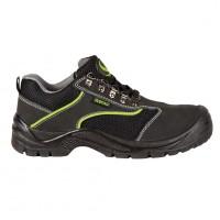 Pantofi de protectie Emerton, cu bombeu metalic, piele, negru, S1, marimea 44