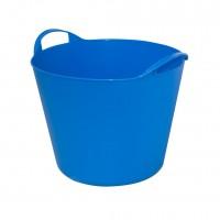 Galeata flexibila cu 2 manere, Flex Bag, albastru, 42 L