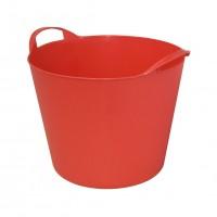 Galeata flexibila ArtPlast Flex Bag, rosie, cu 2 manere, 32 cm, 15L