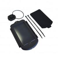 Suport telefon, pentru bicicleta Fischer 85253, cu prindere pe ghidon, negru, IPX4