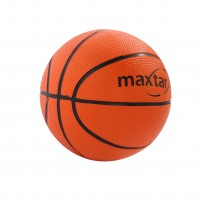 Mini minge basket nr. 1, Maxtar, cauciuc, portocaliu