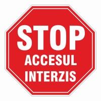 Indicator semnalizare Stop acces interzis, PVC, 37 cm