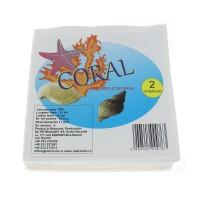 Servetele de masa Coral, albe, 2 straturi, 33 x 30 cm, 50 buc /pachet