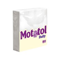 Servetele de masa Mototol, albe, 2 straturi, 33 x 33 cm, 50 buc /pachet