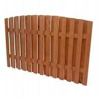 Gard lemn, Rustic, pentru gradina, solid, 200 x 130 cm