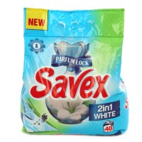 Detergent rufe, automat, Savex Parfum Lock 2 in 1 white, 4 kg