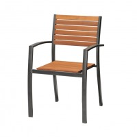 Scaun pentru gradina, Kingsbury, metal + lemn