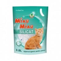Asternut silicatic, Miau Miau, pentru pisici, 3,8 l