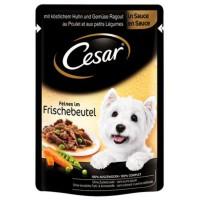 Hrana umeda pentru caini, Cesar adult, pui si legume, 100g
