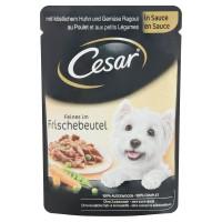 Hrana umeda pentru caini Cesar, adult, carne de pui si legume, 100g