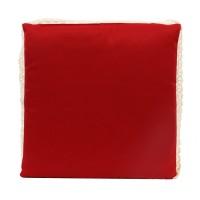 Perna pentru sezut, Tosca, rosie, bumbac + poliester, 40 x 40 x 3 cm