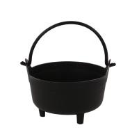 Ghiveci din plastic tip ceaun, negru D 16 cm