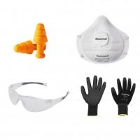 Kit protectie auditiva, respiratorie, mecanica, gospodar Marvel