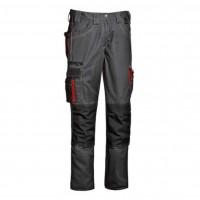Pantalon Harrison, bumbac + poliester, gri + rosu, marimea 48
