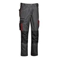 Pantalon Harrison, bumbac + poliester, gri + rosu, marimea 50