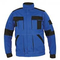Jacheta de lucru Athos, bumbac, albastru + negru, cu fermoar, marimea 56