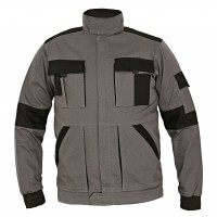 Jacheta de lucru Athos, bumbac, gri + negru, cu fermoar, marimea 48