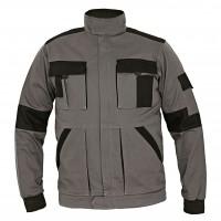 Jacheta de lucru Athos, bumbac, gri + negru, cu fermoar, marimea 54