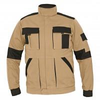Jacheta de lucru Athos, bumbac, bej + negru, cu fermoar, marimea 56