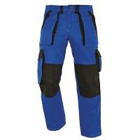 Pantaloni pentru protectie Athos, bumbac, albastru-negru, marimea 56