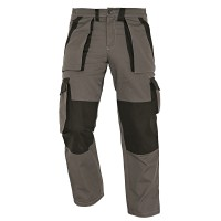 Pantaloni pentru protectie Athos, bumbac, gri-negru, marimea 54