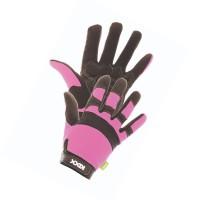 Manusi pentru gradina Marvel Rocky, material sintetic + poliester + spuma, roz + negru, marimea 8