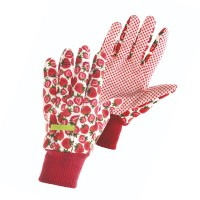 Manusi pentru gradina Marvel Fresh Fruit, bumbac + PVC, rosu + alb, marimea 8