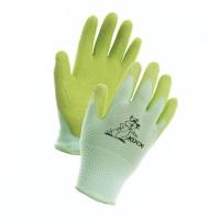 Manusi pentru gradina Marvel Fudge, nylon + latex, verde, marimea 5