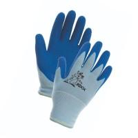 Manusi pentru gradina Marvel Chunky, nylon + latex, albastru, marimea 5