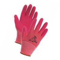 Manusi pentru gradina Marvel Lollipop, nylon + latex, roz, marimea 5