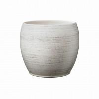 Masca ghiveci Alberta, rotunda, ceramica, gri, D 22 cm