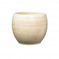 Masca ghiveci Alberta, rotunda, ceramica, crem, D 22 cm