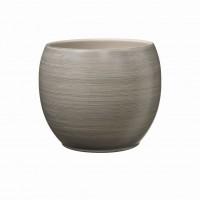 Masca ghiveci Alberta, rotunda, ceramica, maro, D 22 cm