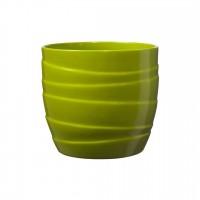 Masca ghiveci Barletta, rotunda, ceramica, verde, D 19 cm