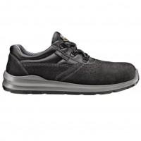 Pantofi de protectie DCT Silver, cu bombeu metalic, piele caprioara, gri, S1 SRC, marimea 45