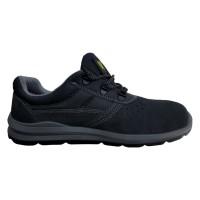 Pantofi de protectie DCT Silver, cu bombeu metalic, piele caprioara, gri inchis, S1 SRC, marimea 45