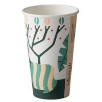 Pahar pentru cafea, carton biodegradabil, Biodeck Artwork, 120 ml, set 25 bucati
