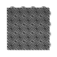 Dala pentru terasa, polipropilena, exterior, perforata, cu model, graphite grey, 1 mp/pac